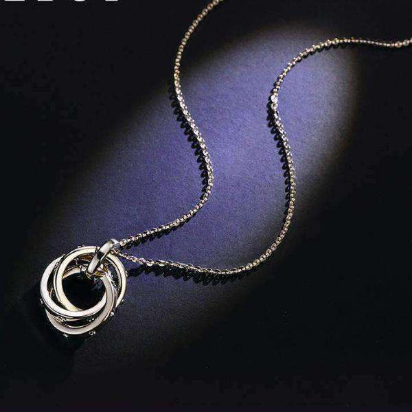 Chic Circle Long Necklace for Winter