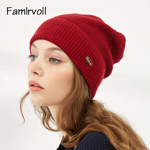 Solid-color Wool-blend Beanie Hat gallery 10
