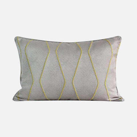 Geometric Embroidery Pattern Pillow Cove gallery 3