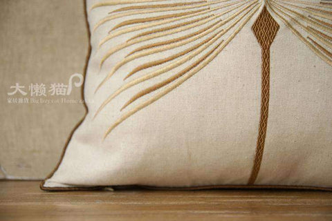 Dandelion Wish Embroidered Linen Pillow Cover gallery 7