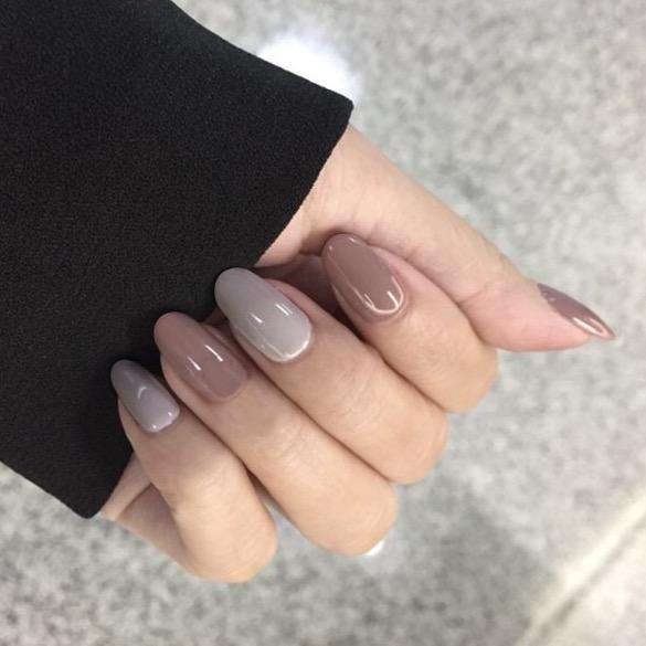 Winter Latte Magic Press On Nail Manicure