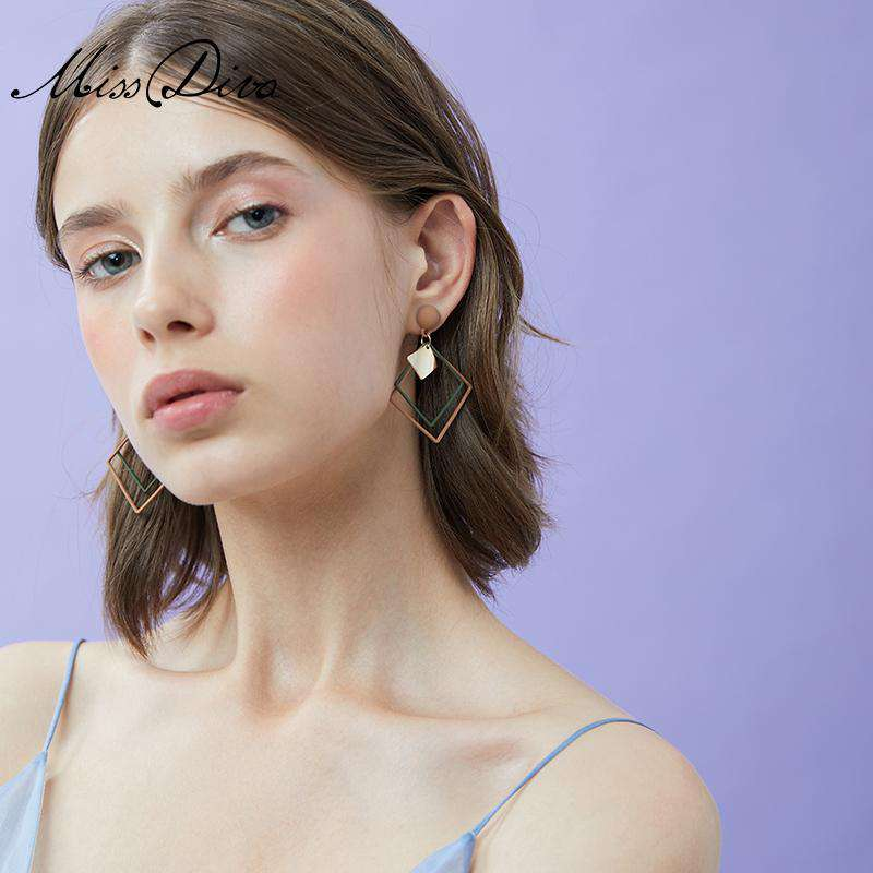 Geometric Square Fashionable Earrings