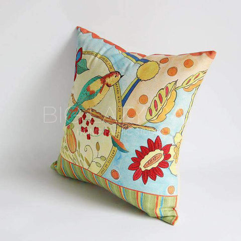 Miracle Garden Painted Pillow Cover gallery 8