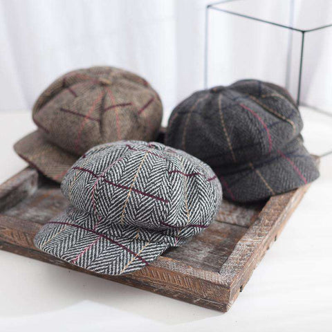 Winter Vintage Checked Hats gallery 8