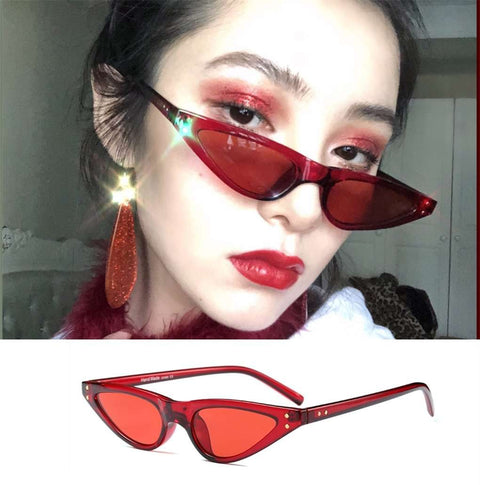 Vintage Narrow Cat Eye With Plastic Frame Sunglasses gallery 3