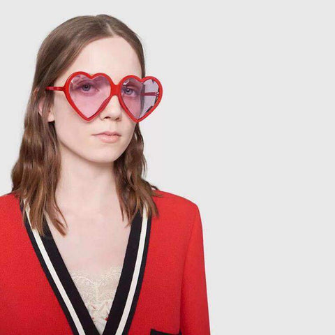 Candy Color Ombre Heart Shape Lens Sunglasses gallery 4