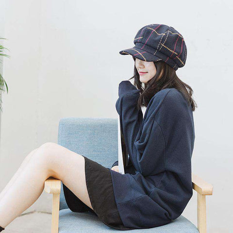 Winter Vintage Checked Hats gallery 7