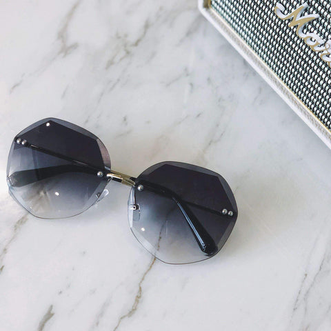 Chic Circle Shape Resin Lens With Cut Side Sunglasses gallery 2
