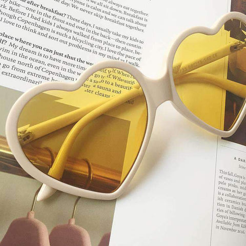 Candy Color Ombre Heart Shape Lens Sunglasses gallery 13