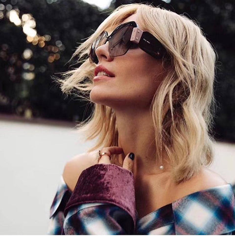 Chic Mirrored Flat Lens Wide Frame Sunglasses gallery 22