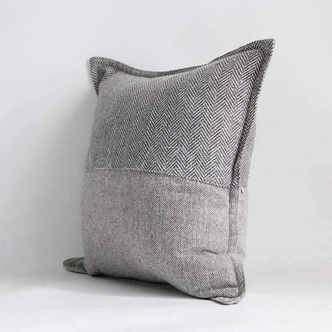 Monochrome Houndstooth Woven Pillow Cover gallery 2