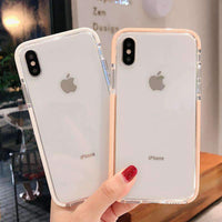 Concise Transparent Full Cover Anti-Fall Phone Case for Apple iPhone