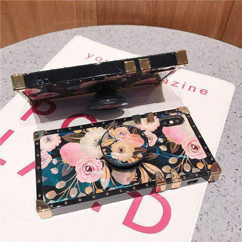 Floral Print Phone Case for Samsung with Phone Holder gallery 7