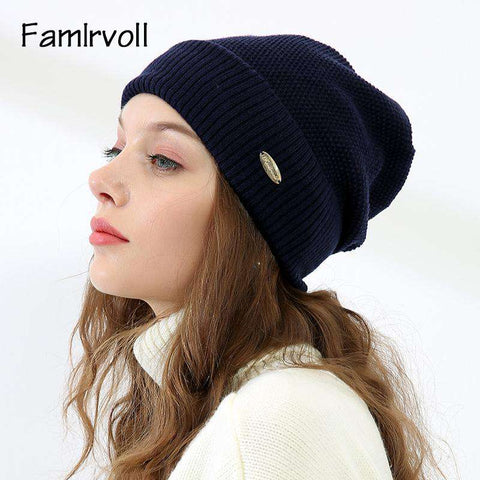 Solid-color Wool-blend Beanie Hat gallery 3