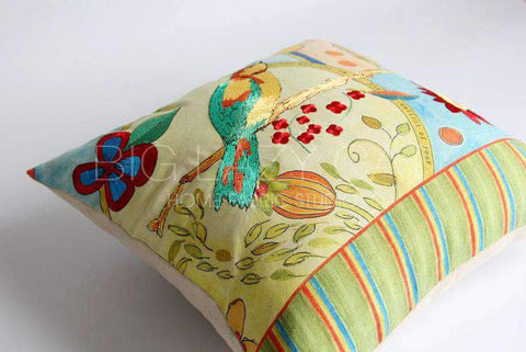 Miracle Garden Painted Pillow Cover gallery 4