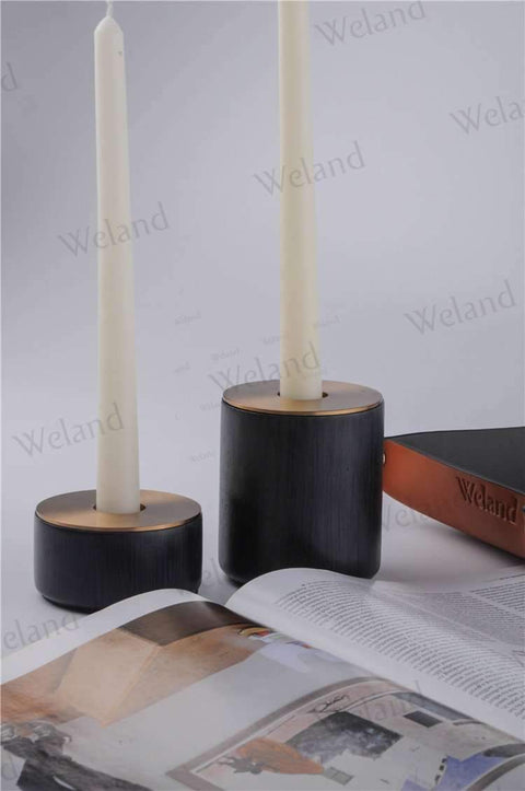 Neo-classical Wooden Candlestick Holder gallery 2