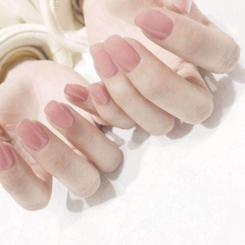 Crystal Clear Pink Magic Press Nail Manicure