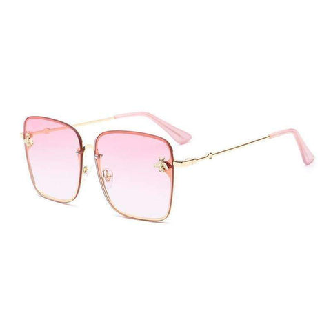 Chic Square Shape With Butterfly Side Street Fashion Sunglasses gallery 2