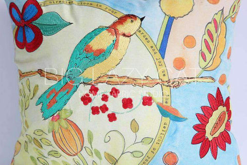 Miracle Garden Painted Pillow Cover gallery 5