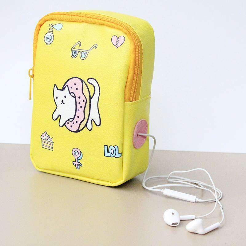 Adorable Cartoon Print Stationery Bag