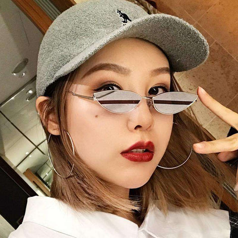 Premium Chic Narrow Oval Shape with Metal Frame Sunglasses gallery 11