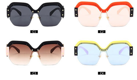 Chic Mirrored Flat Lens Wide Frame Sunglasses gallery 21