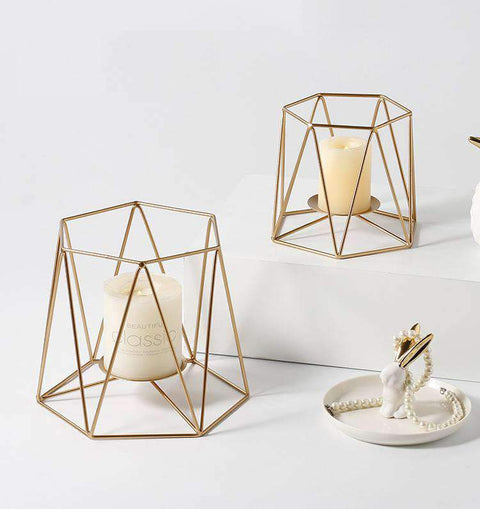 Metal Grid Candle Holder gallery 2