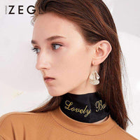 Double Fans Drop Earrings