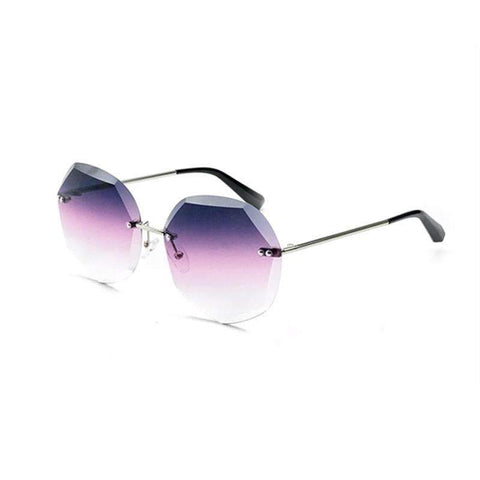 Chic Circle Shape Resin Lens With Cut Side Sunglasses gallery 1