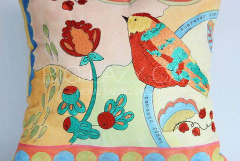 Hand Painted Watercolor Garden Pillow Cover gallery 3