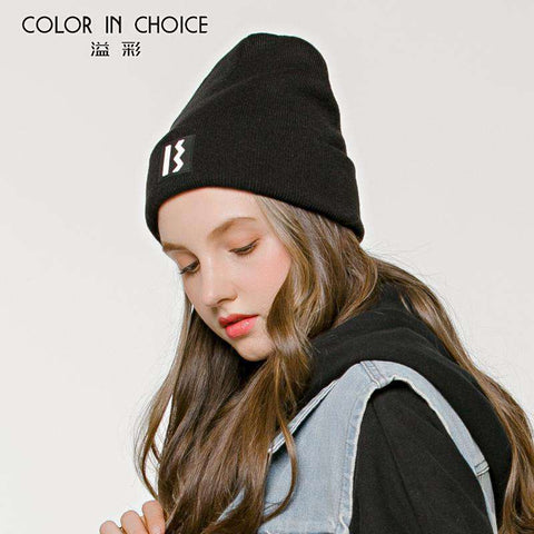 Women's Solid-color Stitch Knit Beanie Hat gallery 5
