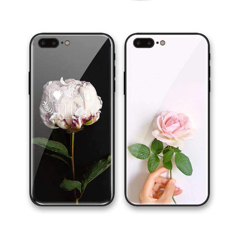 Concise Floral Pattern Soft Phone Case for Apple iPhone