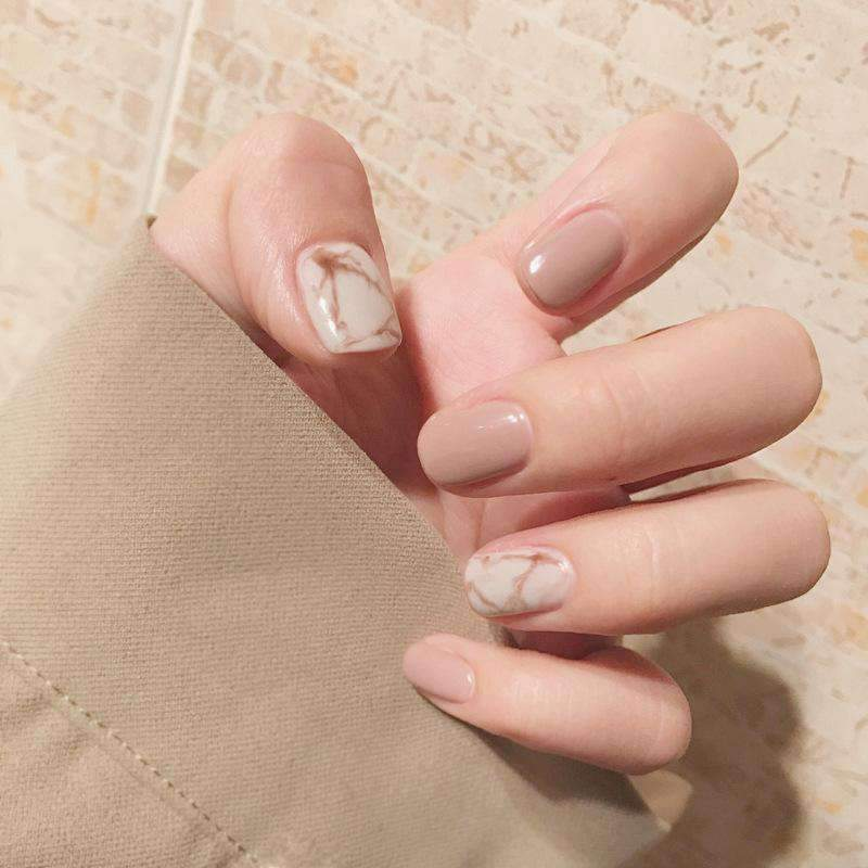 Pearl Milk Tea Magic Press Nail Manicure