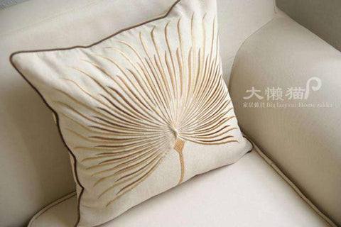 Dandelion Wish Embroidered Linen Pillow Cover gallery 4