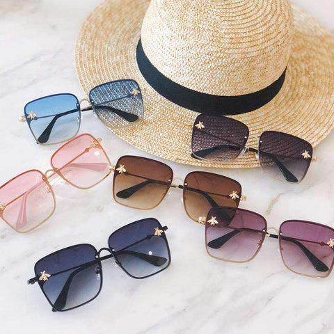 Chic Square Shape With Butterfly Side Street Fashion Sunglasses gallery 11