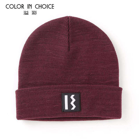 Women's Solid-color Stitch Knit Beanie Hat gallery 3