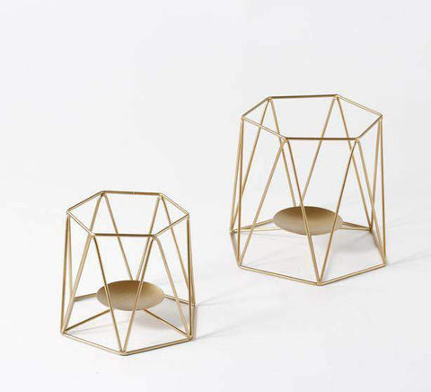 Metal Grid Candle Holder gallery 7
