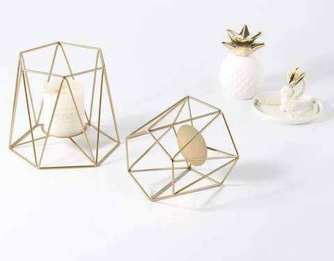 Metal Grid Candle Holder gallery 3