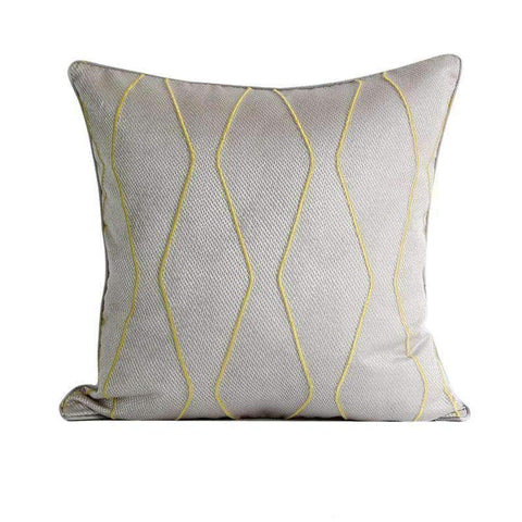 Geometric Embroidery Pattern Pillow Cove gallery 1