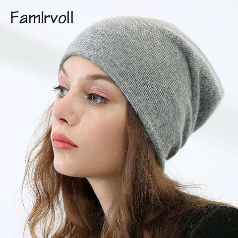 Women's Solid-color Stretch Beanie Hat gallery 7