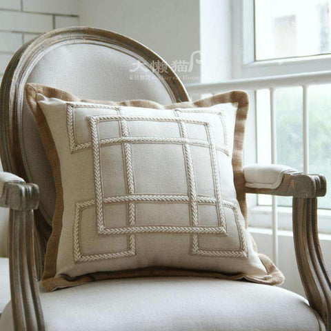 Nordic Embroidery Linen Pillow Cover gallery 5