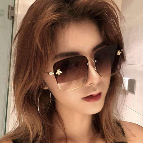 Chic Square Shape With Butterfly Side Street Fashion Sunglasses gallery 9