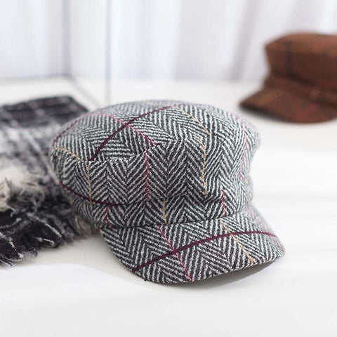 Winter Vintage Checked Hat gallery 2