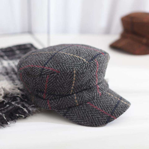 Winter Vintage Checked Hat gallery 4