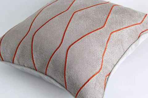 Geometric Embroidery Pattern Pillow Cove gallery 4