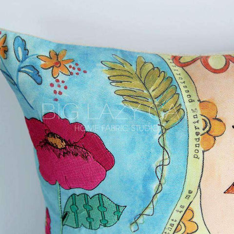 Hand Painted Watercolor Garden Pillow Cover gallery 5