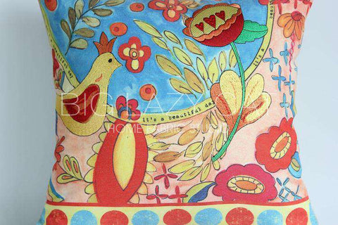 Beautiful Day Painted Pillow Cover gallery 6