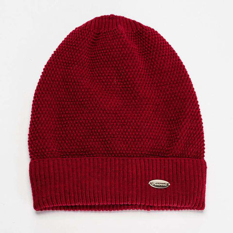 Solid-color Wool-blend Beanie Hat gallery 4