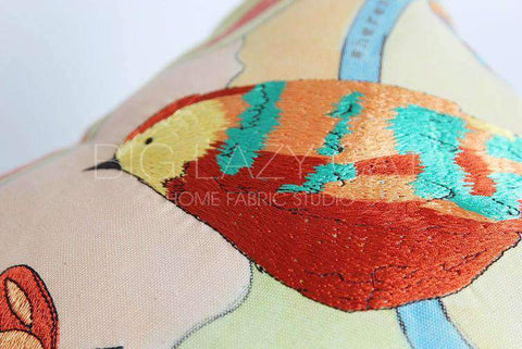 Hand Painted Watercolor Garden Pillow Cover gallery 7