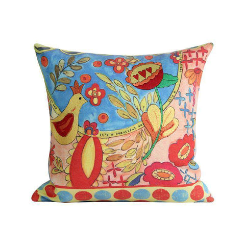 Beautiful Day Painted Pillow Cover gallery 1